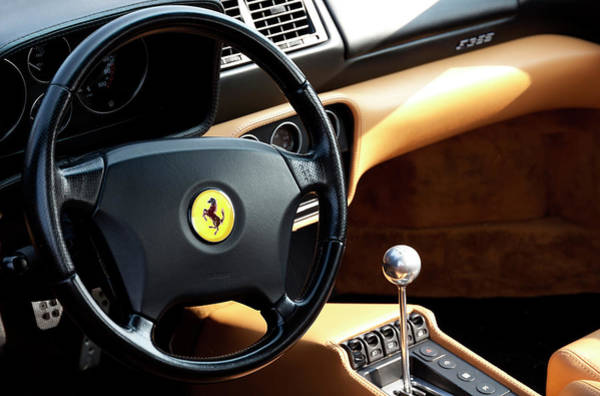 Sportscar Photograph - F355 Cockpit by Peter Chilelli
