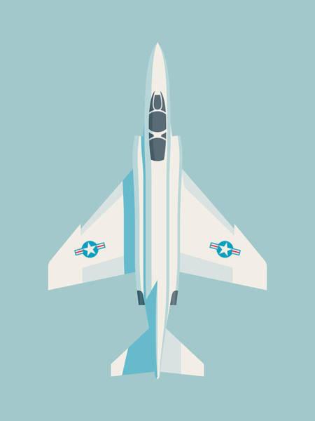 Jet Digital Art - F4 Phantom Jet Fighter Aircraft - Sky by Ivan Krpan