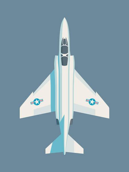 Jet Digital Art - F4 Phantom Jet Fighter Aircraft - Slate by Ivan Krpan
