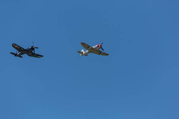 Hawker Sea Fury Photograph - F4u-4 Corsair - Sawbones Airplanes 10 by John Brueske