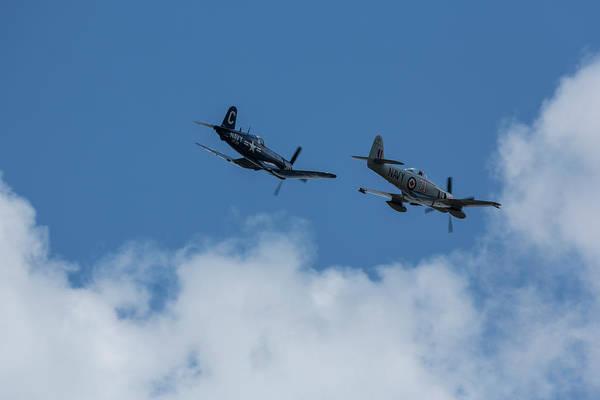 Hawker Sea Fury Photograph - F4u-4 Corsair - Sawbones Airplanes 2 by John Brueske