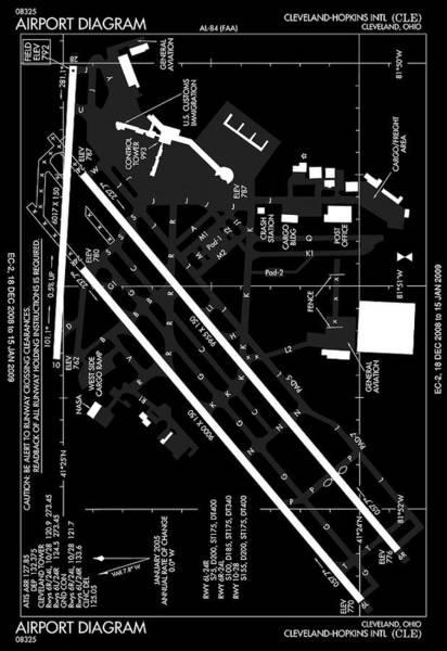 Wall Art - Photograph - F A A Diagram Of Cleveland - Hopkins Intl Airport C L E by Daniel Hagerman