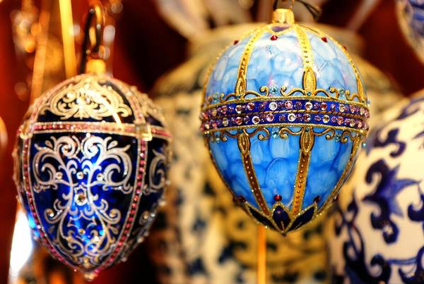Photograph - Faberge Holiday Eggs by Carol Montoya