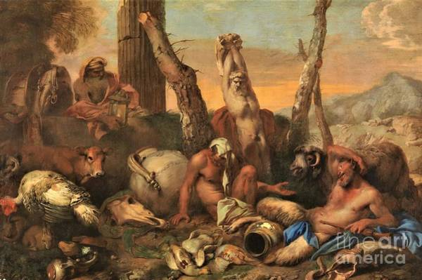 Wall Art - Painting - Fable Of Diogenes by Pg Reproductions