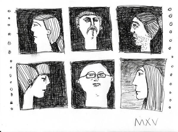 Abstract Expressionist Drawing - Fabulas No. 5 by Mark M  Mellon