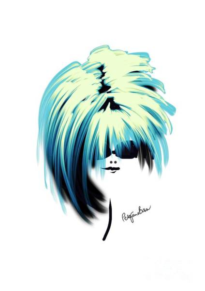Hairdo Digital Art - Fabulously Blue by Peta Brown
