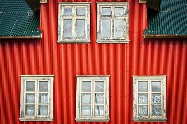Photograph - Facade And Windows - Iceland by Stuart Litoff