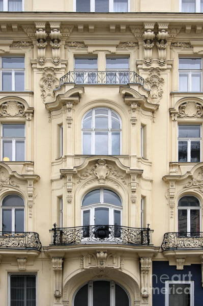 Photograph - Facade On Mariahilferstrasse by Angela Rath