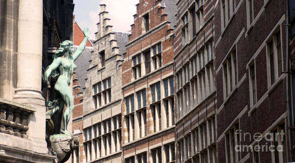 Photograph - Facade Figure In Antwerp Belgium by Eva-Maria Di Bella