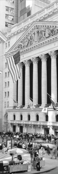 Colonnade Photograph - Facade Of New York Stock Exchange, Manhattan, New York City, New York State, Usa by Panoramic Images