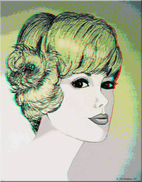 Anaglyph Photograph - Face - Use Red-cyan 3d Glasses by Brian Wallace