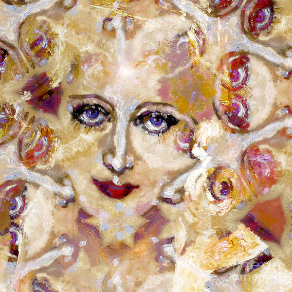 Mixed Media - Face Fantasy 3 by Ginette Callaway