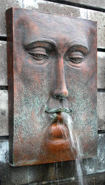 Photograph - Face Fountain - Riviera Maya Mexico by Frank Mari