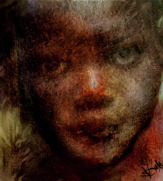 Bodie Digital Art - Face In Question by V Bodie