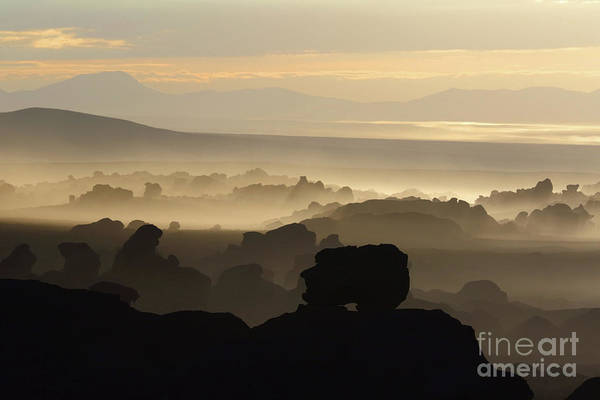 Wall Art - Photograph - Face In The Rocks North Lipez Bolivia by James Brunker