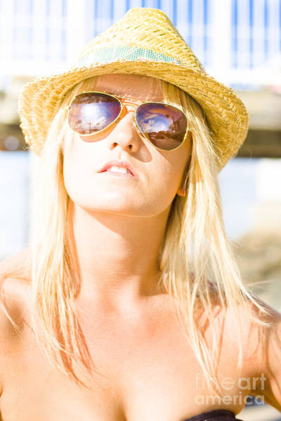 Photograph - Face Of A Woman In Sunglasses On Holiday by Jorgo Photography - Wall Art Gallery