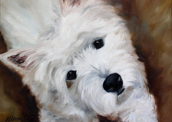 West Highland Painting - Face Of Endearment by Mary Sparrow