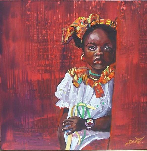 Caribbean Wall Art - Painting - Face Of Indpendence by Jan Farara