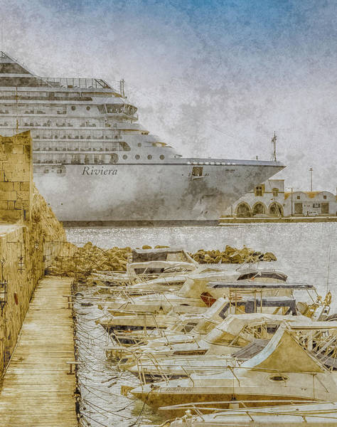 Photograph - Rhodes, Greece - Face Off by Mark Forte