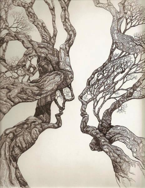 Face Tree 11 Art Print