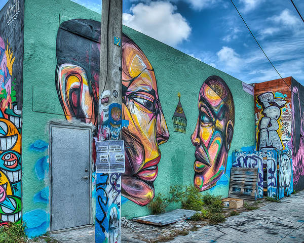 Wynwood Photograph - Faces On The Wall by Coco Moni