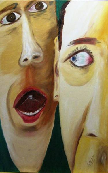 Jim Carrey Painting - Faces by Tony Van der Watt