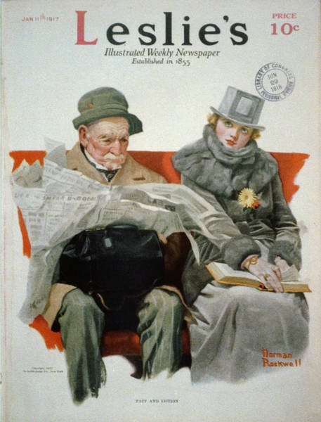 Painting - Fact And Fiction by Norman Rockwell