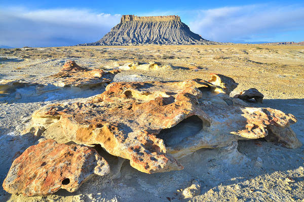 Photograph - Factory Butte In The San Rafael Desert by Ray Mathis