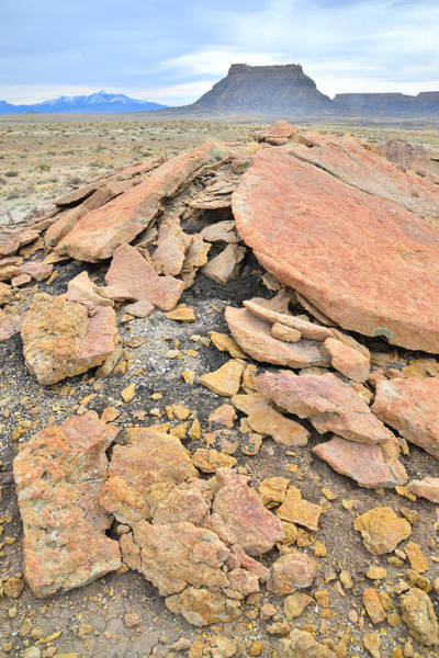 Photograph - Factory Butte Rock Pile by Ray Mathis