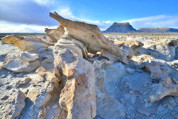 Photograph - Factory Butte Sand Sculpture by Ray Mathis