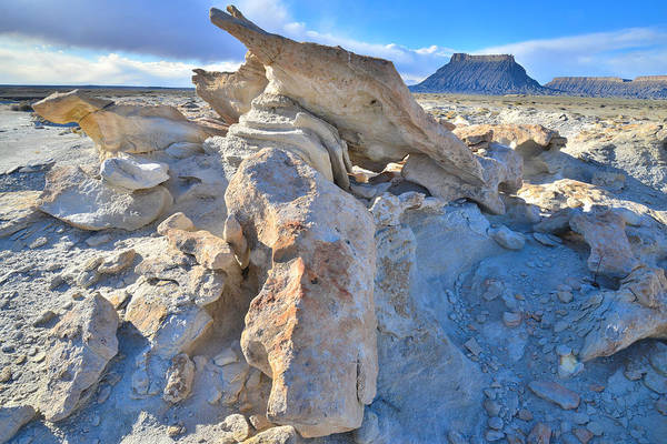 Photograph - Factory Butte Sandstone Sculpture by Ray Mathis