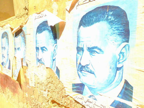 Arte Photograph - Faded Iconic Arab Figures On Beirut Walls by Funkpix Photo Hunter