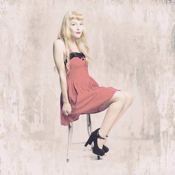 Photograph - Faded Rockabilly Grunge Girl by Jorgo Photography - Wall Art Gallery