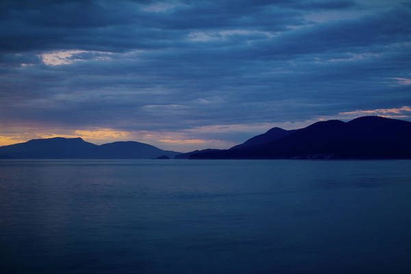 Wall Art - Photograph - Fading Light Over Rosarios Strait by Rich Leighton