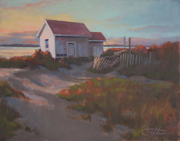 Outer Banks Painting - Fading Light by Todd Baxter