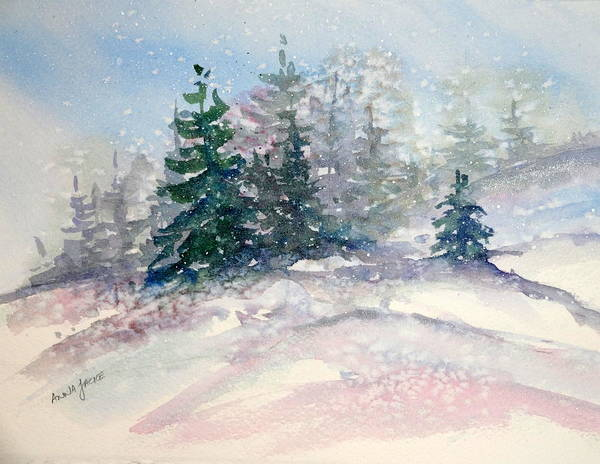 Painting - Fading Winter Light by Anna Jacke