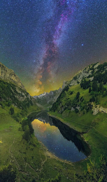 Photograph - Faelensee By Night by Ralf Rohner