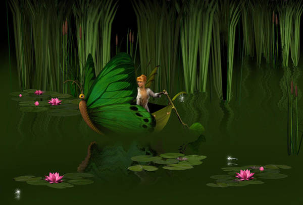 Lilly Pad Digital Art - Faerie Pond by David Griffith