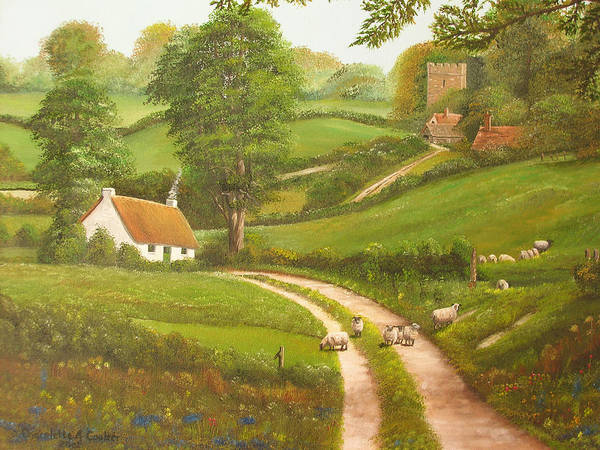 Lane Painting - Failte Romhat  Welcome by Charolette A Coulter