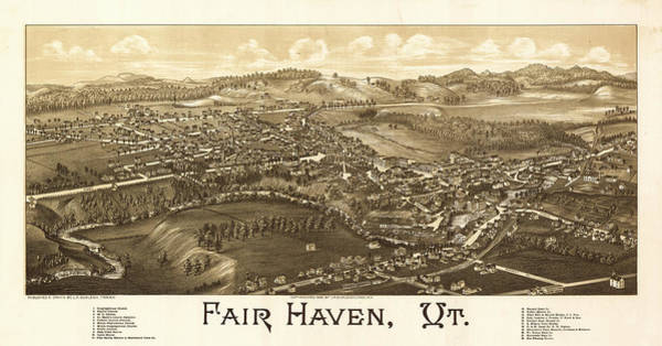 County Fair Painting - Antique Fair Haven, Vt. by Burleigh Litho