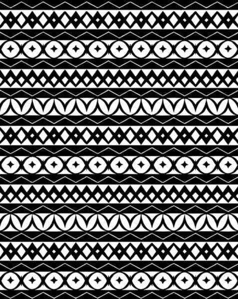 Black Digital Art - Fair Isle Black And White by Rachel Follett