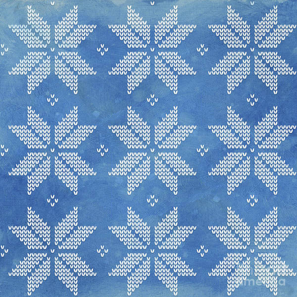Fair Painting - Fair Isle Pattern Snowflakes by Audrey Jeanne Roberts