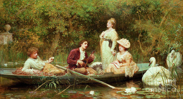 Country Style Painting - Fair, Quiet And Sweet Rest by Samuel Luke Fildes