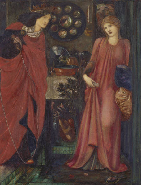 Painting - Fair Rosamund And Queen Eleanor by Edward Burne-Jones