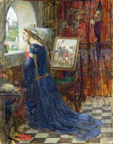 Kneeling Painting - Fair Rosamund by John William Waterhouse