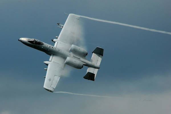 Wall Art - Photograph - Fairchild Republic A-10 Thunderbolt II In Action  by L Brown