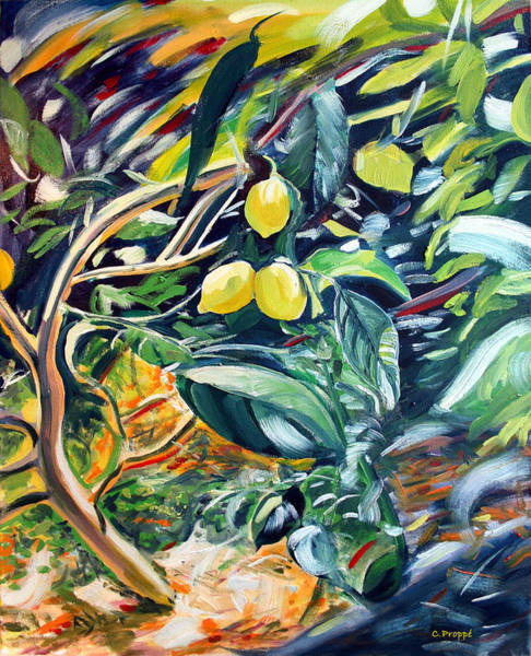 Meyer Painting - Fairfax Fresh Meyer Lemons by Colleen Proppe