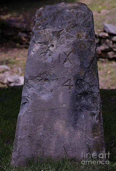 Historical Marker Photograph - Fairfax Stone by Randy Bodkins