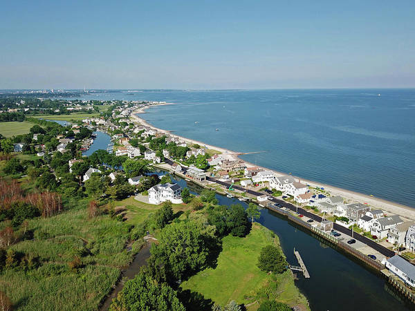Wall Art - Photograph - Fairfield Beach Road Aerial by Stephanie McDowell