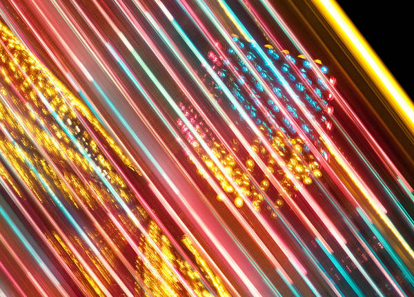 Photograph - Fairground Abstract by Helen Northcott